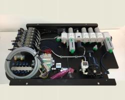 פאנל שליטה והפעלה פנאומטי למכונת דפוס דיגיטלית